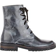 Ann Demeulemeester Metallic-Finish Combat Boots