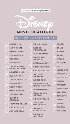 Disney Movie Challenge