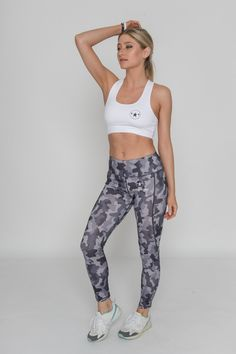 041d5b5a487 CHARCOAL CAMO JUST STRONG LEGGINGS   48.92. Visit Just Strong for available  sizes. High