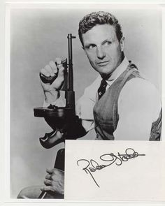 Photo of actor Robert Stack who starred in the popular TV show The Untouchables Vintage Tv, Vintage Hollywood, Jill Clayburgh, Cincinnati Kids, Silent Screen Stars, Robert Stack, Bogart And Bacall, Robert Walker, Tv Detectives
