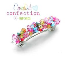 CANDIED CONFECTION boutique TWISTY crystal hair by hipchics, $14.99