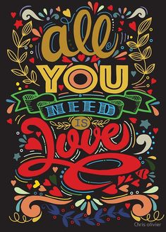 """""""all you need is love"""" by Chris olivier Framed Prints, Canvas Prints, Art Prints, My Doodle, All You Need Is Love, Wall Tapestry, Floor Pillows, Decorative Throw Pillows, Art Boards"""