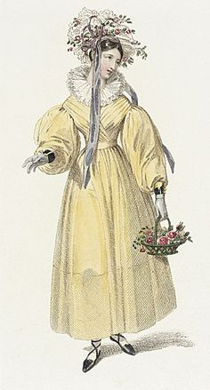 Ackermann's Repository, English Morning Dress, May 1829. Flouffy!