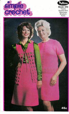 Patons 319 Vintage crochet patterns book