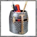 Templar Colored Pen Holder  http://www.wulflund.com/interior-decorations/figures-lamps-cups/templar-helm-coloured-penpot.html/