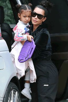 Welcome to Oghenemaga Otewu's Blog: Kim Kardashian steps out with her cute daughter