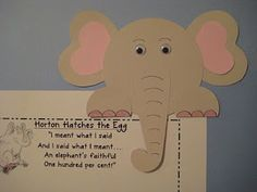 Horton peek over and writing activity - Horton Hears a Who by Dr. Seuss - includes free printables