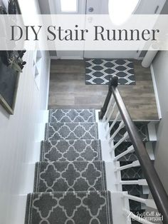 DIY Stair Runner in a Raised ranch/ Split Level entry