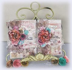 """Scraps of Darkness and Scraps of Elegance: """"Garden"""" cards - video tutorial by Tracey"""