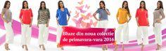 Vă prezentăm cele mai noi modele de bluze care fac parte din colecția de primăvară-vară 2016 marca Adrom Collection. http://www.adromcollection.ro/9-bluze
