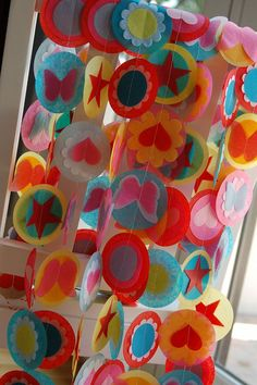 Items similar to Tissue Garland - Candy Shoppe on Etsy Tissue Garland, Bunting Garland, Diy Garland, Paper Garlands, Paper Decorations, Diy And Crafts, Crafts For Kids, Arts And Crafts, Craft Projects