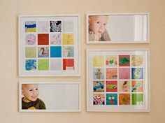 Nice ways to preserve kids art