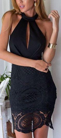 Keyhole Halter Dress ❤︎ #lbd