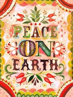 One of the most simple of all philosophies, one of the most repeated and clichéd statements of modern times, yet it is so important! Politicians talk about peace but never act toward it! All countries should be acting towards it but when they rely on corporations who profit, an almost never ending cycle seems inevitable! Imagine a world without hate, without discrimination! Harmony may never happen but we should at least try to work towards it!