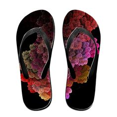 Colorful Leafs Flip Flops Beach Slippers ** You can find more details by visiting the image link.