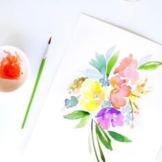 Watercolor florals painting diy peonies wilton. Painting on French macarons with food coloring. Painting on paper with food coloring