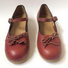 Vintage Fringe Mary Janes Shoes, size 9