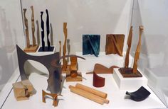 A variety of maquettes (or scale models) made by sculptor Llisa Demetrios exemplify how she incorporates the lessons she learned from her grandparents Charles and Ray Eames.