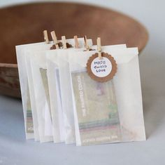 """Sometimes it takes nothing but a little idea to impress your customers and make them feel special. Try this one: add a small handwrittenpaper label with the writing """"Made with love"""". They ..."""