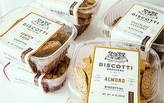 Vintage Biscotti Packaging : bakery branding