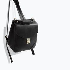 ZARA Black backpack.