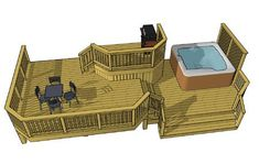 This 3 level deck features a x top deck that provides access to the house and is set in the center of the design. Its elevated position and clipped corners allow you a pleasant overhead view of the surrounding levels. The x middle deck serve Pergola Cost, Deck With Pergola, Outdoor Pergola, Pergola Shade, Pergola Ideas, Metal Pergola, Cheap Pergola, Backyard Pergola, Pergola Plans