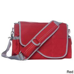 Sailcloth Messenger Bag | Overstock.com Shopping - The Best Deals on Camera Bags & Cases