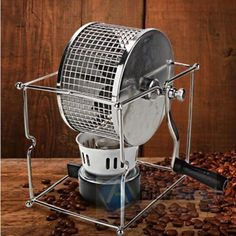 NEW Manual Stainless Steel #Coffee Bean #Roaster Machine Hand Use Maker W/ Burner | eBay