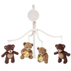 Amazon.com: Lambs & Ivy Bedtime Originals Musical Mobile, Honey Bear: Baby