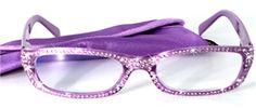 Swarovski crystal eyeglasses  http://www.debspecs.com/Glitter-Glam-wstones-C42.aspx