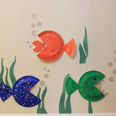Revision of letter F Brilliant Like Fireflies: Paper Plate Fish for Sea theme. Good craft for Tiger Scouts. Daycare Crafts, Classroom Crafts, Toddler Crafts, Crafts For Kids, Arts And Crafts, Paper Plate Fish, Paper Plate Crafts, Paper Plates, Sea Crafts