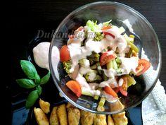 Салат из стручковой фасоли, брокколи и черри | Диета Дюкана