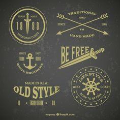 Retro emblem tattoos