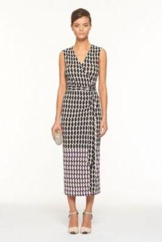 DVF   Zalda Dress In Slice Black, Spring 2012: Beginnings