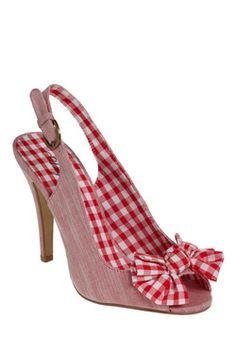 Buy ModCloth Women's Red In Season Heel. Gingham Shoes, Red Gingham, Red Shoes, Cute Shoes, Me Too Shoes, Shoes Heels, Bow Heels, Red Plaid, Tartan
