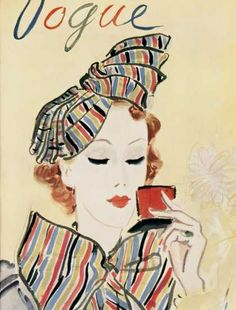 old vogue cover, love the covers with illustration