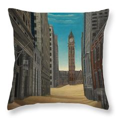 "Toronto Desert Throw Pillow by Tobias De Haan.  Our throw pillows are made from 100% spun polyester poplin fabric and add a stylish statement to any room.  Pillows are available in sizes from 14"" x 14"" up to 26"" x 26"".  Each pillow is printed on both sides (same image) and includes a concealed zipper and removable insert (if selected) for easy cleaning."