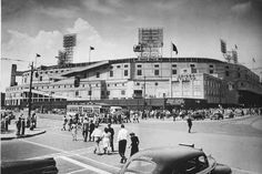 Old Detroit Photography Tiger Stadium Briggs Stadium 1940s Detroit Tigers Ball Park Vintage Baseball Black and White Photography Photo Print by EclecticForest on Etsy https://www.etsy.com/listing/191445661/old-detroit-photography-tiger-stadium