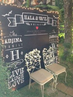 ✔ 20 gorgeous indoor wedding backdrops to try 00003 Photos Booth, Diy Photo Booth, Wedding Photo Booth, Photo Booth Backdrop, Wedding Photo Backdrops, Chalkboard Wedding, Wedding Signage, Chalkboard Art, Chic Wedding