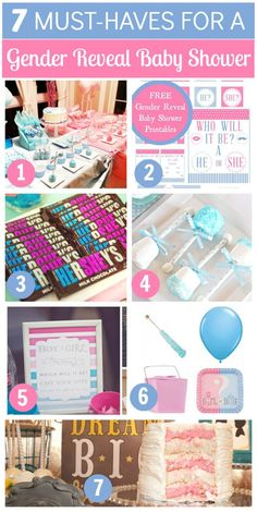 Great gender reveal baby shower ideas!  See more party ideas atCatchMyParty.com.