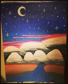 Night hills My Arts, Night, Movie Posters, Movies, Painting, Film Poster, Films, Painting Art, Movie
