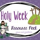 This file contains a variety of resources for use leading up to and during Holy Week.   Contents:  Student Objectives/Teacher Notes Two worksheets ...