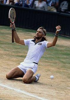Bjorn Borg winning Wimbledon in 1979