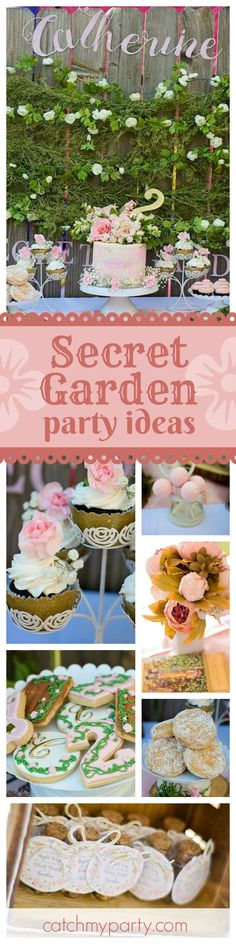 Step into this enchanting secret garden birthday party. The birthday cake is absolutely beautiful!! See more party ideas and share yours at CatchMyPartycom