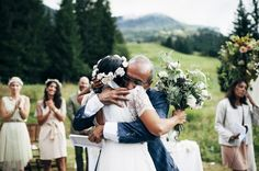 Sweet father-daughter wedding moment captured by Pretty Days