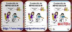 Espectaculares Cuadernillos de repaso para vacaciones de verano. Educación Primaria 4º- 5º – 6º.