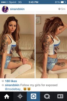 Her arm tattoo!