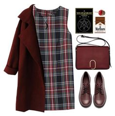 """""""DarkRed"""" by fionita ❤ liked on Polyvore featuring MANGO, H&M, 3.1 Phillip Lim, Carolina Glamour Collection, red and Dark"""