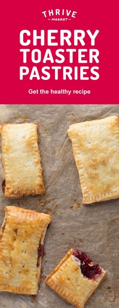 These cherry toaster pastries are fun and easy to make! Plus, they're so scrumptious and healthy that you won't want to go back to store-bought kinds. Get the full exclusive recipe at Thrive Market! Discover hundreds more easy, delicious one-of-a-kind recipes found only at Thrive Market! Also, save on organic, non-GMO ingredients, all up to 50% off every day!