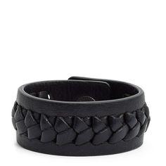 Frye 'Jenny' Braided Leather Bracelet ($48) ❤ liked on Polyvore featuring jewelry, bracelets, black, braided bracelet, woven leather bracelet, cuff bracelet, leather bracelet and bracelet bangle